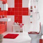 Rode badkamer van Praxis