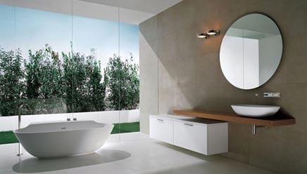 Badkamers voorbeelden met vrijstaand bad