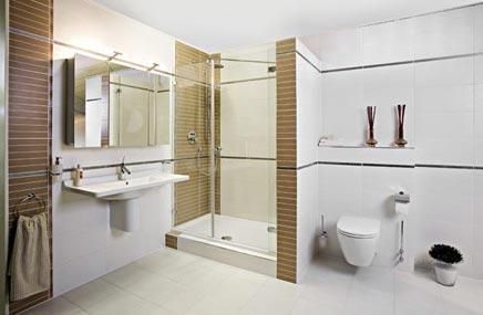 Minimalistische badkamer van Wooning - Badkamers voorbeelden