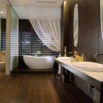 Badkamers voorbeelden zen badkamer met bruine tinten for Badkamer zen