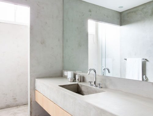 Beton in badkamer