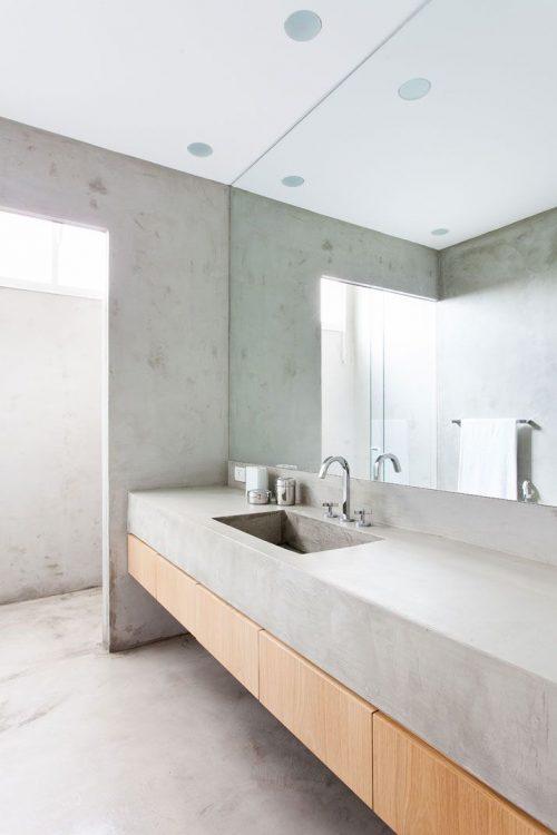 Betonnen wastafel - Badkamers voorbeelden