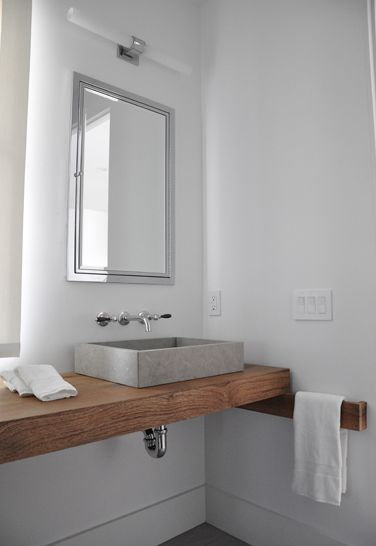Badkamers voorbeelden » Betonnen wastafel # Wasbak Plank_131824