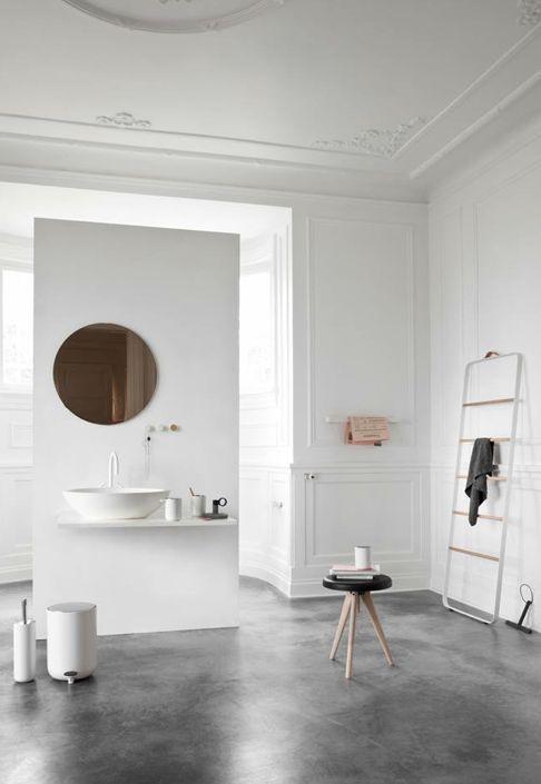 Kleine Strakke Badkamer ~ Badkamers voorbeelden ? Betonvloer in badkamer
