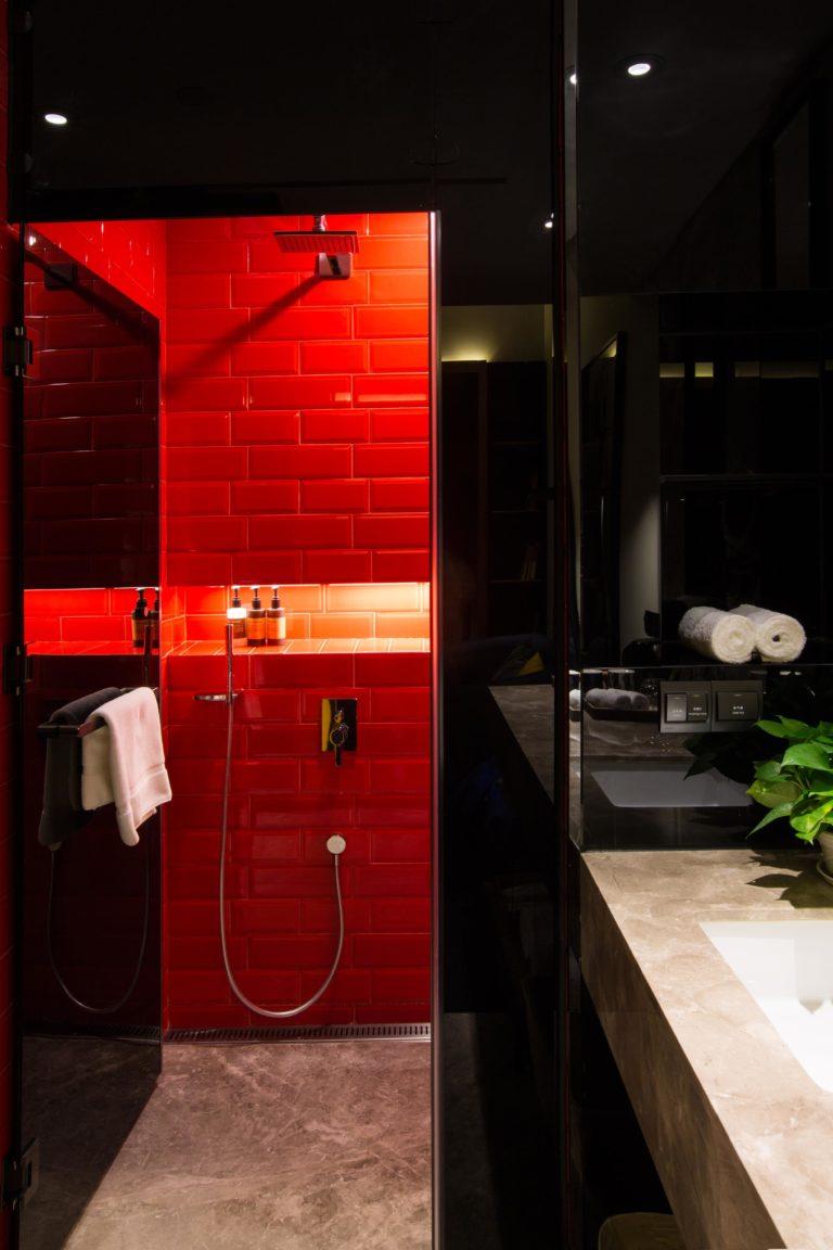 Bijzondere badkamer van Wonderful Hotel in Taipei
