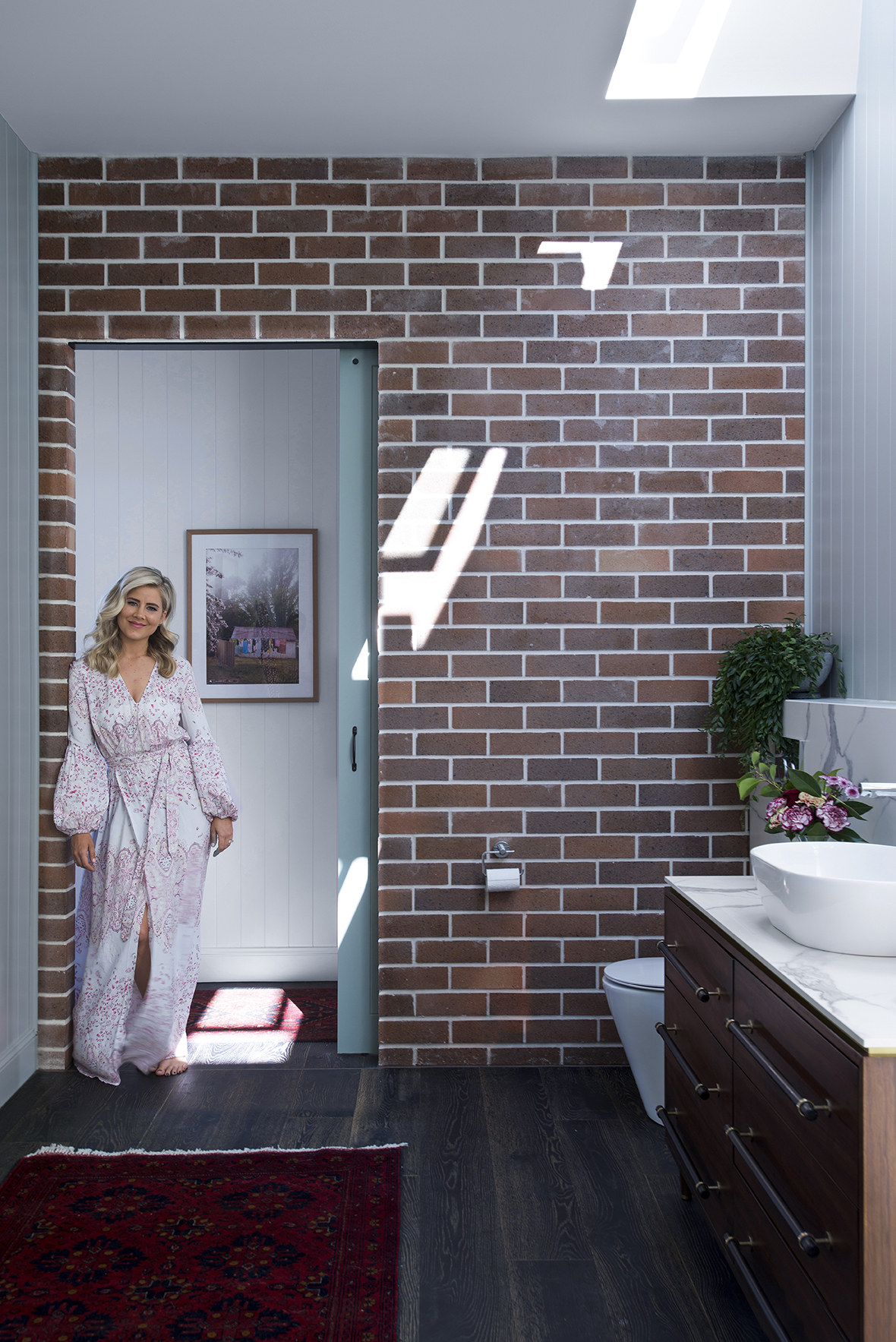 Binnenkijken in de badkamer van Micheal en Carlene