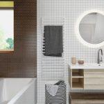 Bruine tinten in een Scandinavische badkamer