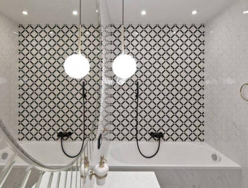 Chique klassieke badkamer door interieur architect Indrė Sunklodienė