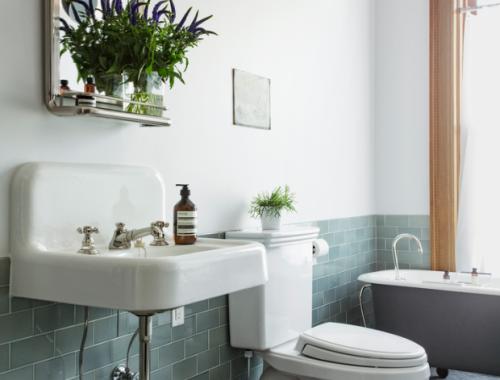 Chique klassieke badkamer uit Brooklyn