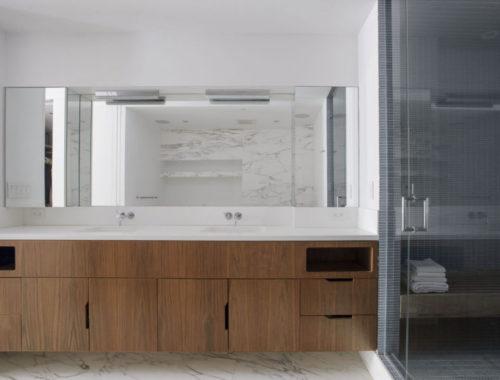 De luxe badkamer van een mooie Tribeca loft