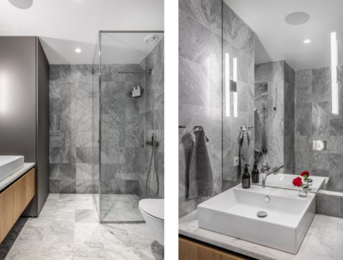 Deze kleine badkamer van een appartement van 36m2 is perfect ingericht!