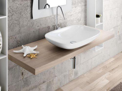 Dikke houten wastafelblad van Lasa Idea