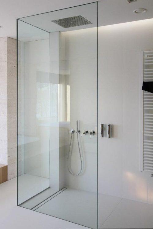 Glazen Douchewand Tot Plafond.10x Mooie Douchewanden Badkamers Voorbeelden