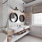 Scandinavisch geïnspireerde badkamer