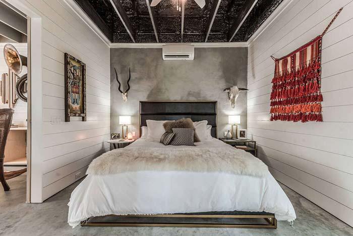 eclectische bungalow slaapkamer