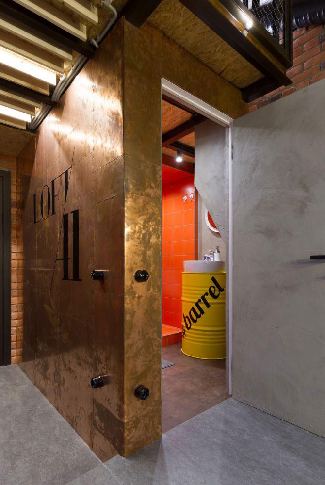 Een echte stoere industriële badkamer!