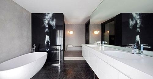 Voorbeelden Zwart Wit Slaapkamers : Zwart, wit en grijs
