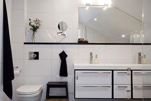 Elegante Scandinavische badkamer