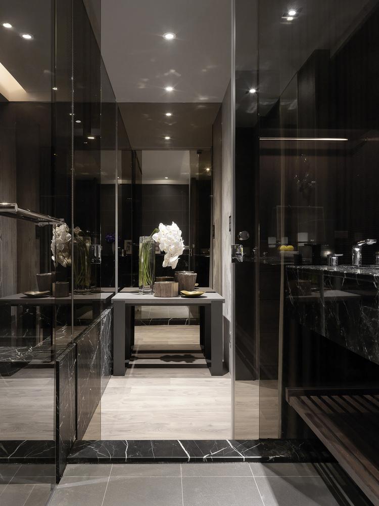 Elegante sobere badkamer
