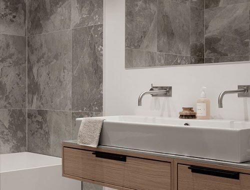 Luxe badkamer van grote villa in Rotterdam - Badkamers voorbeelden