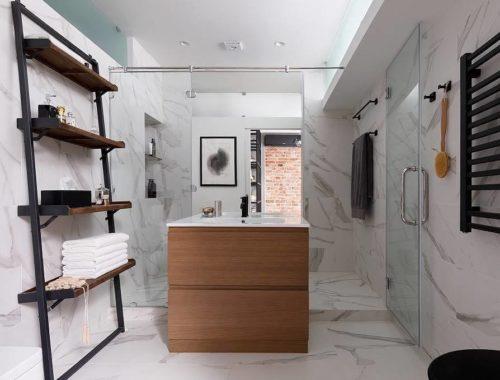 Exclusieve badkamer van een loft appartement