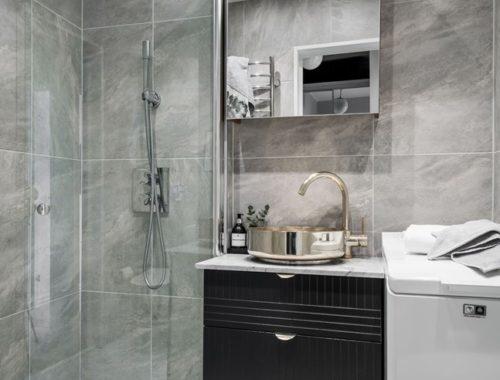 Exclusieve kleine badkamer met vloerverwarming!