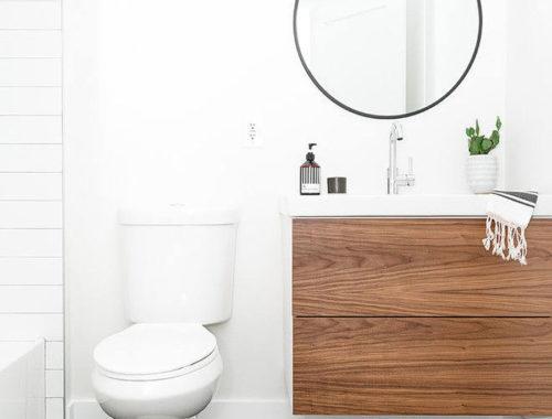 Fijn badkamerontwerp in kleine bungalow badkamer