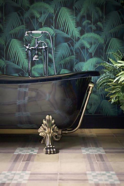 Fotobehang in de badkamer badkamers voorbeelden - Behang in de badkamer ...