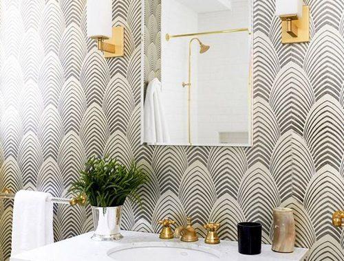 fotobehang in de badkamer
