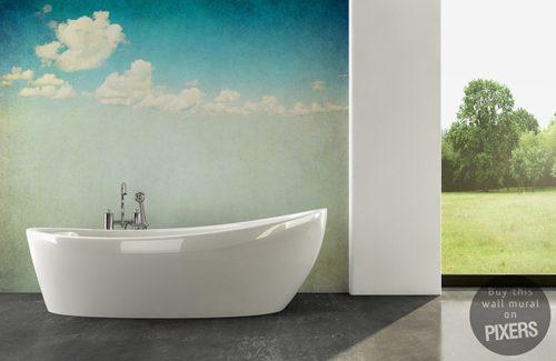 Fotobehang in de badkamer - Badkamers voorbeelden