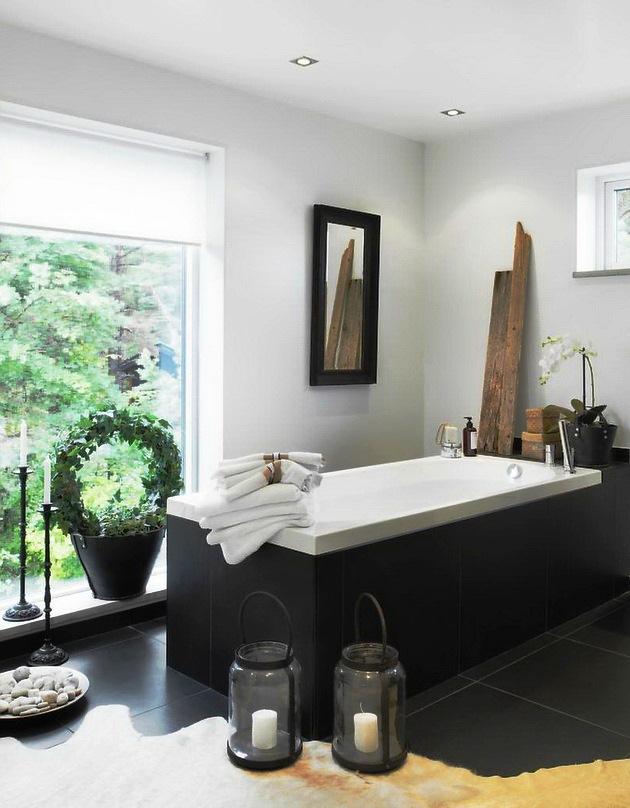 Gezellige moderne badkamer