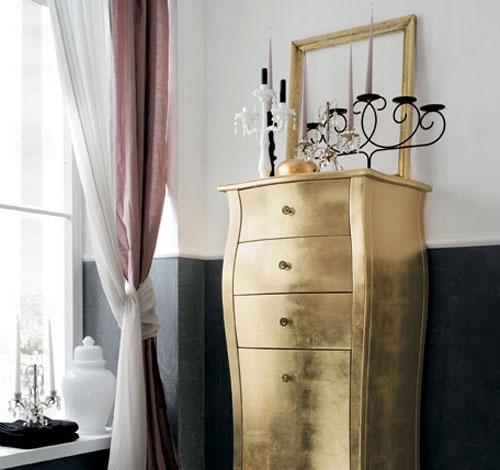 Gouden badmeubelen van RAB