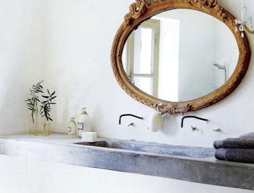 Gouden badkamerspiegel