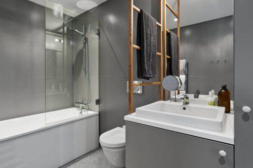 Granieten vloer in moderne badkamer - Badkamers voorbeelden