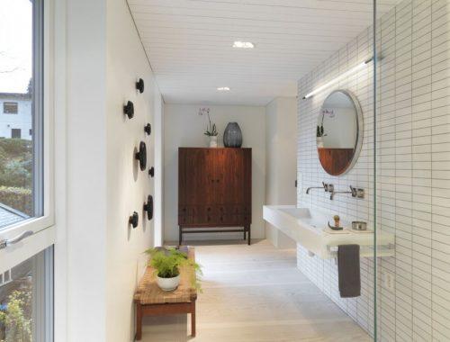 Grote inloopdouche in de Villa S badkamer