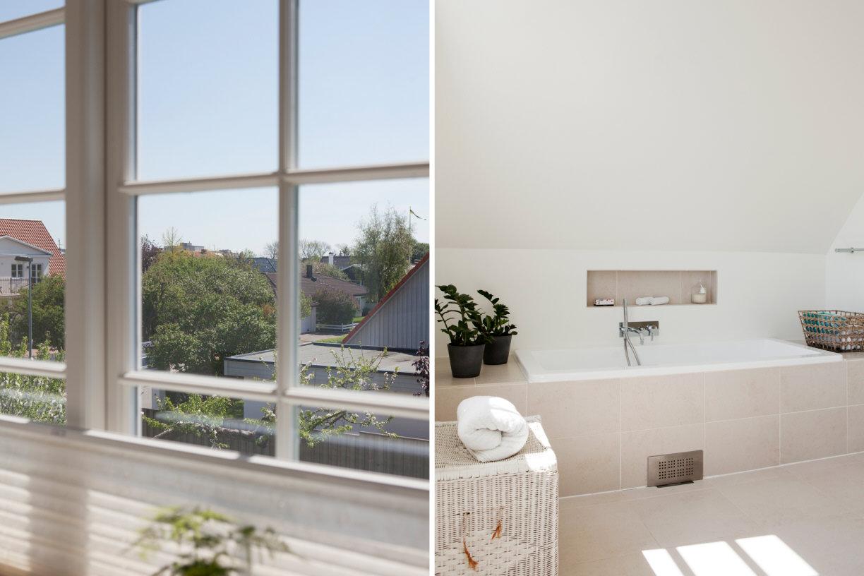 Grote Tegels Badkamer : Grote lichte moderne badkamer met neutrale tegels badkamers