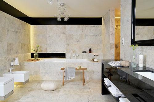 Grote luxe marmeren badkamer badkamers voorbeelden - Luxe marmer ...