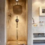 Hammam badkamer met licht in inloopdouche