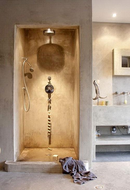 Hammam badkamer met licht in inloopdouche - Badkamers voorbeelden