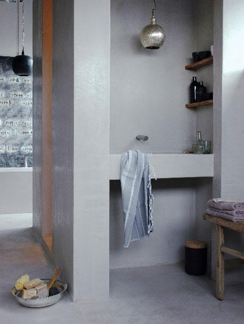 Hammam badkamer met tadelakt