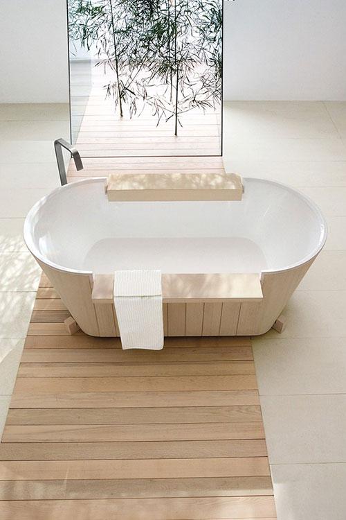 Houten bad van norvegia collectie badkamers voorbeelden - Lavabos ontwerp ...