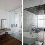 Transparante loft badkamer
