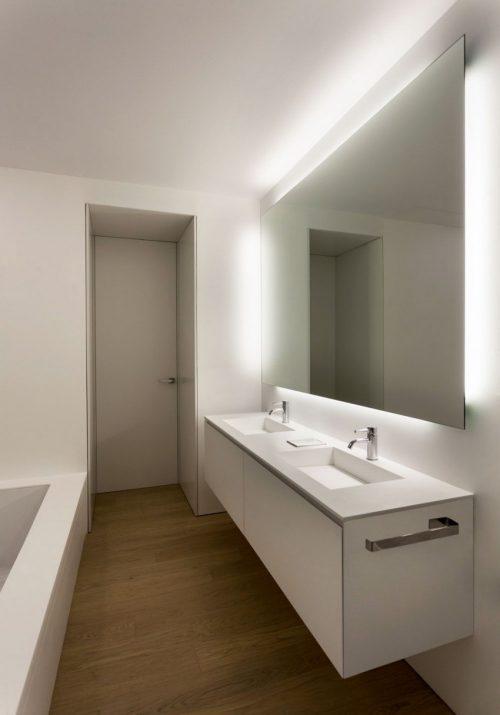 Badkamer moderne badkamer vloer inspirerende foto 39 s en idee n van het interieur en woondecoratie - Badkamer houten vloer ...