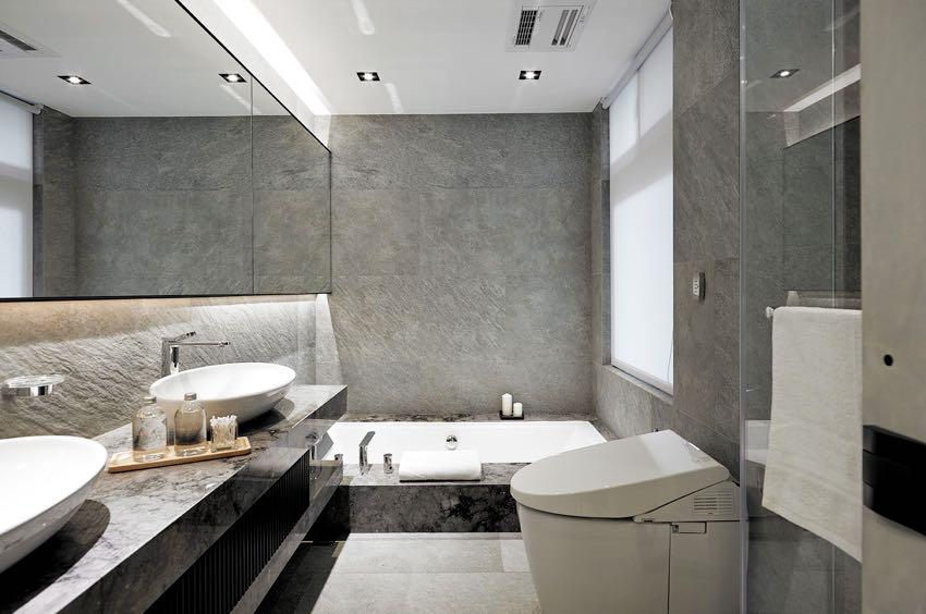 In deze badkamer zijn ze iets verder gegaan dan normaal luxe!