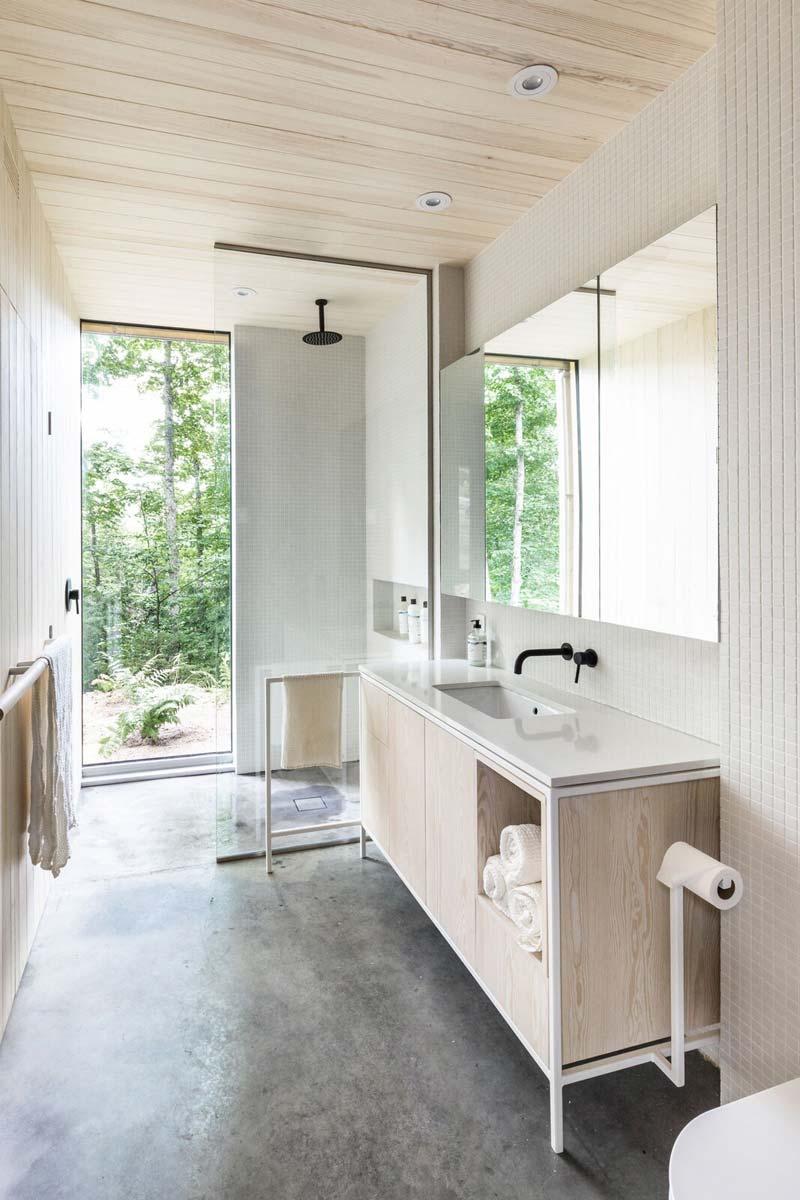 Inbouwspots in de badkamer