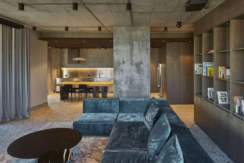 Industrieel luxe interieur