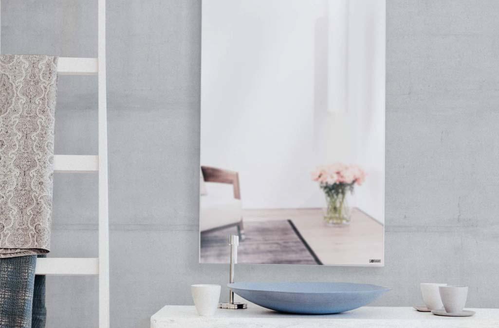 infrarood verwarming badkamerspiegel