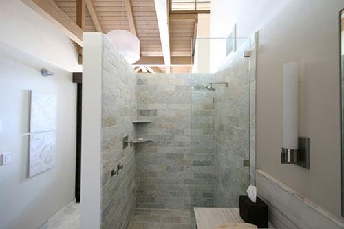 Badkamer Muur Bouwen : Inloopdouche met l vormige muur badkamers voorbeelden