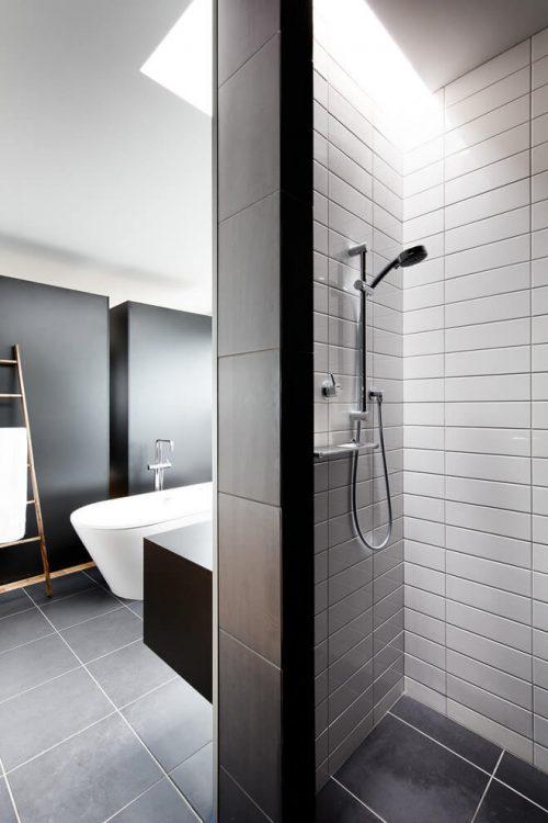 Inloopkast open badkamer combinatie badkamers voorbeelden - Open badkamer ...