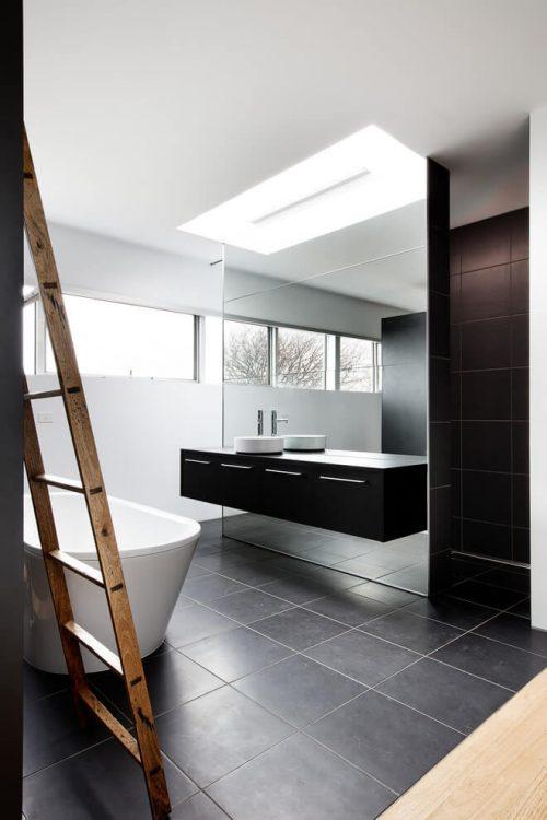 Inloopkast open badkamer combinatie